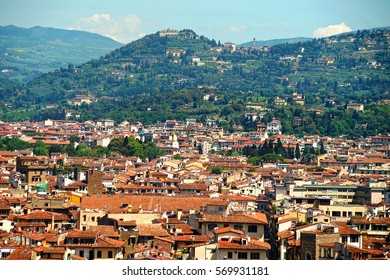 Florence, view from the observation deck at the Boboli gardens. Tuscany, Italy