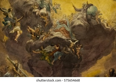 FLORENCE-November 14: Mural Paintings in Santissima Annunziata,,in Florence,Italy.Picture taken on November 10,2016.