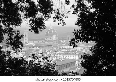Florentine cityscape in autumn