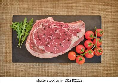 Florentine steak on the table
