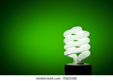 A florescent bulb symbolizing the saving energy of and money