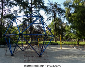FLORESTAL PARK IN SANTIAGO, CHILE - JANUARY 11, 2015: This urban park contains the Nacional de Fines Arts Museum, the Contemporary Art Museum, playground, trails, located in the heart of santiago.