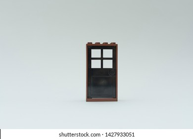 Florianopolis - Brazil, June 18, 2019: Opportunity, door open, door closed, Doors set isolated on white background. Lego minifigures are manufactured by The Lego Group.