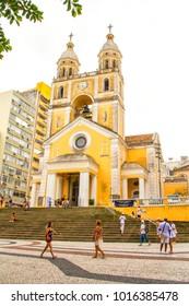 Florianopolis, Santa Catrina, Brazil: 27.01.2018 - Florianopolis Metropolitan Cathedral