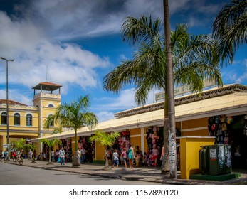 Florianopolis/SC/Brazil - 01-29-2010: Part of the Public Market and 'Camelodromo' in the Tourist Center of the city