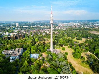 Florianturm or Florian Tower telecommunications tower and Westfalenpark in Dortmund, Germany