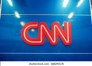 FLORIDA, AMERICA: CNN Logo - Fort Lauderdale Airport Newsstand - July 28 2017