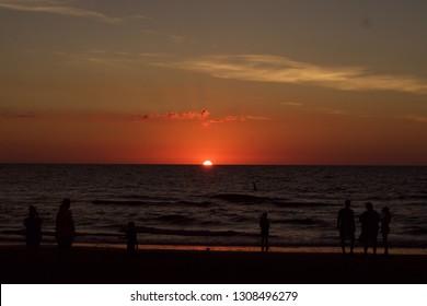 Florida Beach at Sunset