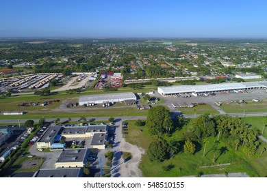 FLORIDA CITY - DECEMBER 27: Aerial image of businesses along Dixie Highway in Florida City en route to the Florida Keys December 27, 2016 in Florida City, FL, USA