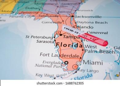 Florida Coronavirus Covid-19 Quarantine  background