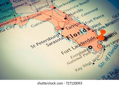 Fort Pierce Florida Map.Vinnitsa Ukraine June 25 2017 Florida Stock Photo Edit Now