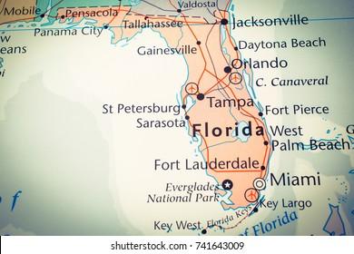 Fort Pierce Florida Map.Florida Map Stock Photo Edit Now 727113784 Shutterstock