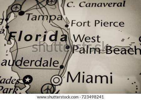 Fort Pierce Florida Map.Florida Map Stock Photo Edit Now 723498241 Shutterstock