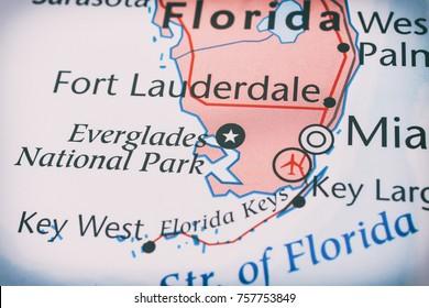 Florida map background