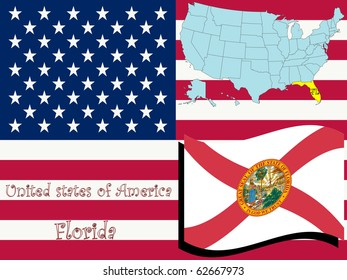 florida state illustration, abstract art; for vector format please visit my gallery