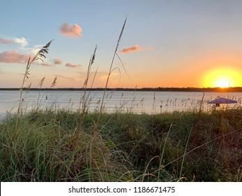 Florida sunset at the beach.