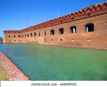 Florida, United States - April, 2017 : The Dry Tortugas National Park. Saw Fort Jefferson, Florida, United States. Editorial Photo.