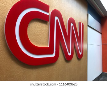 FLORIDA, UNITED STATES: CNN Logo - Fort Lauderdale Airport in America, News / Media Corporation - May 28 2018