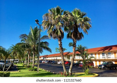 Florida, USA - July 23, 2016: Typical motel in Florida city
