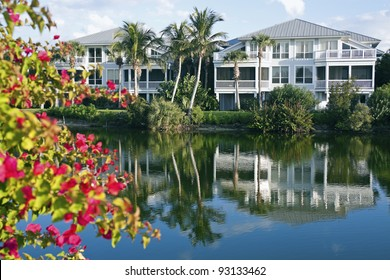 Florida waterfront community - seen by Gulf of Mexico
