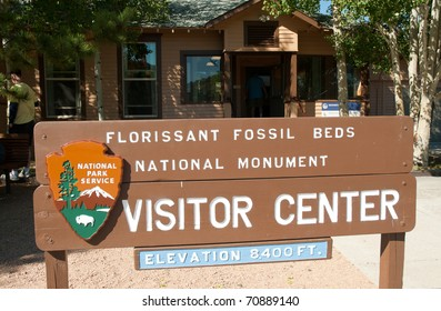 Florissant Fossil Beds National Monument visitor center sign