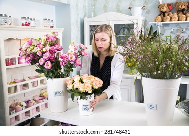 Florist preparing for the day at work