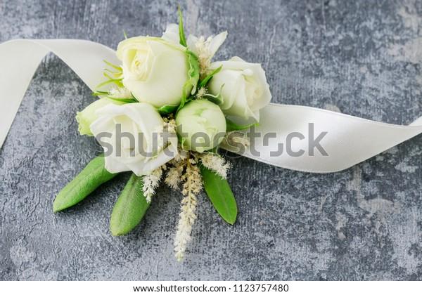 Florist Work How Make Wrist Corsage Stock Photo Edit Now