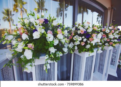 Floristic decoration process wedding party open stock photo edit floristic decoration process of wedding party open air junglespirit Image collections