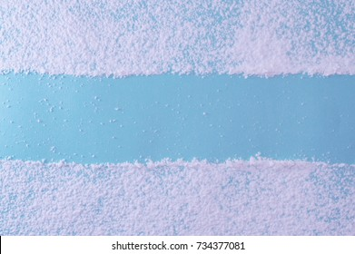 Flour background for your bakery projects or food publications.