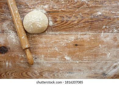 Flour and dough on the dough sheeter