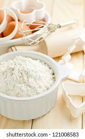 Flour and eggs