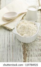 Flour, milk