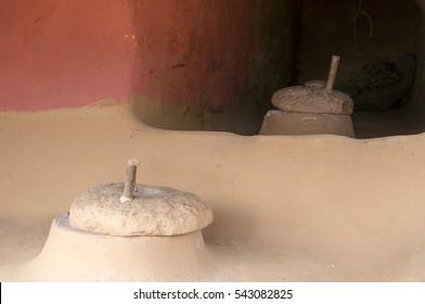 Flour mills in the village Ramkot - Nepal.