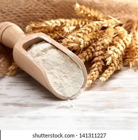 flour on pasta