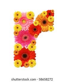flower alphabet, r, lower case character