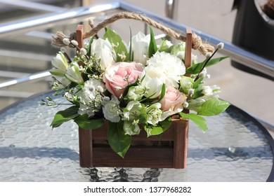 a flower arrangement
