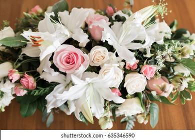 Flower arrangement, center piece.