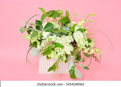Flower arrangement : Rose, Dendrobium, Phytolacca americana, Spray Carnation, Liriope Grass
