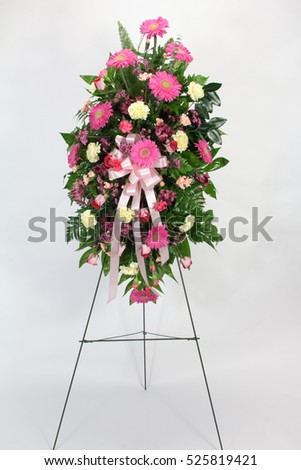 Flower Arrangement Pink Yellow Flowers Stock Photo Edit Now