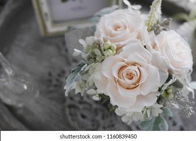 Flower arrangement, rose copy space