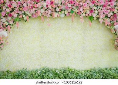 flower background, backdrop wedding decoration, rose pattern, Wall flower, colorful background, fresh rose