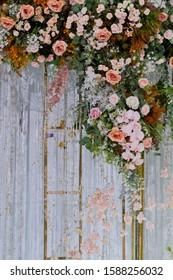 flower background, backdrop wedding decoration, rose pattern, colorful background, bunch of flower