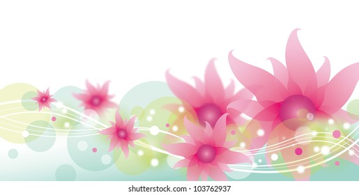 Flower background design on white background