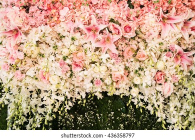 Flower background as texture