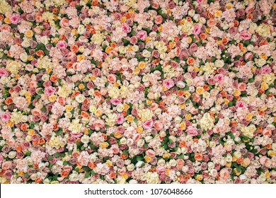 Flower background wall