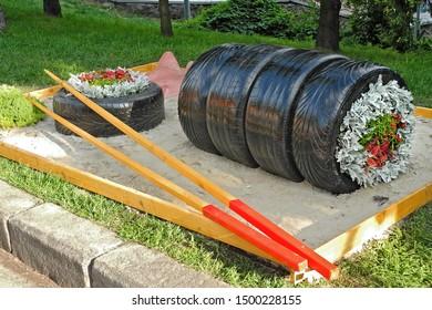 Garden Design Using Tires