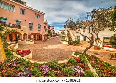 flower bed in Porto Cervo, Sardinia