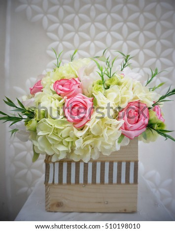 Flower Bouquet Made By Cloth Fibre Stock Photo Edit Now 510198010