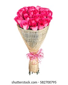 Flower bouquet of pink roses