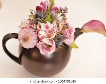 Flower Bouquet in Teapot